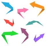 Colorful arrow set Stock Photo