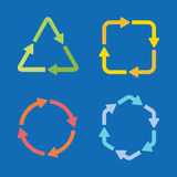 Colorful arrow shape icons set Royalty Free Stock Images