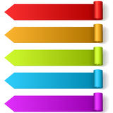 Colorful arrow shaped labels Royalty Free Stock Images