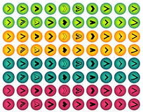 Colorful arrow sign icon set Stock Photo