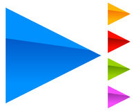 Colorful arrow template. Arrow shapes in different colors Royalty Free Stock Photo