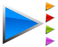 Colorful arrow template. Arrow shapes in different colors Royalty Free Stock Image