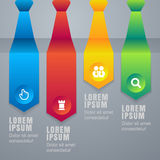 Colorful arrow tie infographics elements. Vector illustration ba Stock Photos