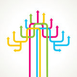 Colorful arrow tree background Royalty Free Stock Image