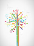 Colorful arrow tree created with place for your text. Vector art Stock Images