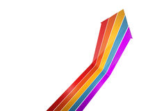 Colorful arrow up. Isolated on white background Royalty Free Stock Photography