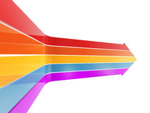 Colorful arrow up Royalty Free Stock Photos