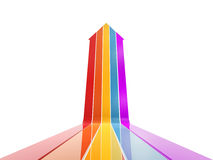 Colorful arrow up Stock Photo