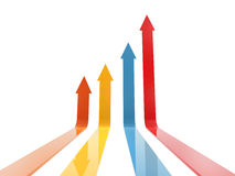 Colorful arrow up Stock Image