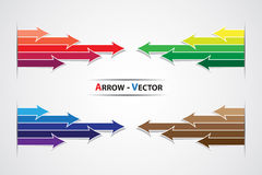 Colorful arrow vector symbol Stock Images