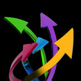 Colorful arrows Stock Images