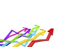 Colorful arrows Royalty Free Stock Photography
