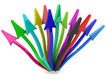 Colorful arrows Stock Photography