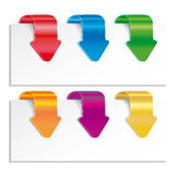 Colorful arrows. Royalty Free Stock Images