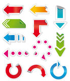 Colorful arrows. Royalty Free Stock Image