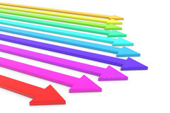 Colorful arrows. Royalty Free Stock Photography