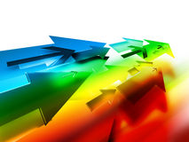 Colorful arrows Stock Image