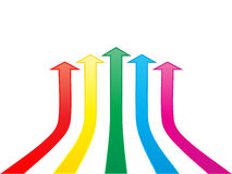 Colorful arrows Royalty Free Stock Photo