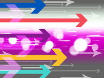 Colorful Arrows Background Means Computer Data And Connections Stock Image