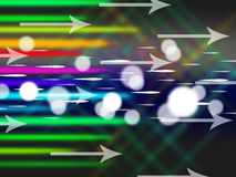 Colorful Arrows Background Means Net Traffic And Bytes Stock Image