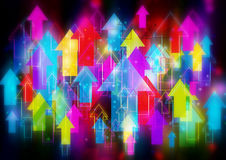 Colorful arrows background stock illustration