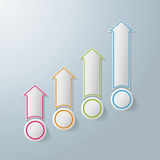Colorful Arrows Chart Infographic Design. Colorful arrows on the grey background. Eps 10  file Stock Photography