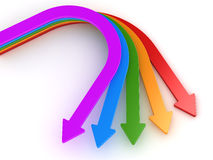 Colorful arrows. This is a computer generated and 3d rendered picture Royalty Free Stock Images