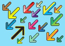Colorful arrows flat design style. Vector. Illustration. vector illustration
