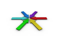 Colorful arrows forming circle Royalty Free Stock Photography