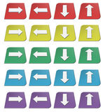 Colorful arrows icons. Set of colored 3d icons with arrows Royalty Free Stock Photos