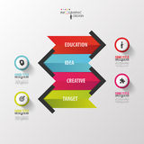 Colorful arrows. Infographic design. Vector Royalty Free Stock Photography