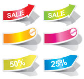 Colorful arrows and labels. Royalty Free Stock Photography