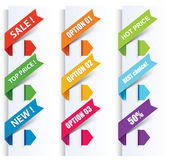 Colorful arrows and labels. Royalty Free Stock Image