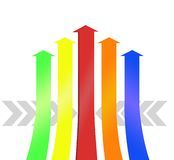 Colorful arrows pattern Stock Photo