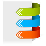 Colorful arrows pointing at the item Royalty Free Stock Photography