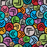 Colorful arrows seamless pattern. Royalty Free Stock Photos