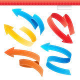 Colorful Arrows Set Stock Image