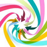Colorful Arrows Spiral Illustration. Colorful Arrows Spiral - Vector Illustration Royalty Free Illustration