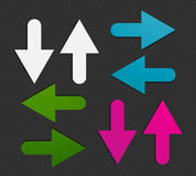 Colorful arrows stickers Royalty Free Stock Photo
