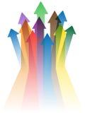 Colorful arrows to success Stock Photos