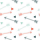 Colorful arrows and triangles seamless pattern background illustration Royalty Free Stock Photo