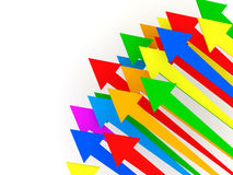Colorful Arrows on white background Stock Photos