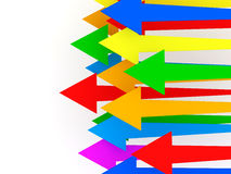 Colorful Arrows on white background. 3d Image Stock Photography