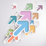 Colorful Arrows. On the white background Royalty Free Stock Photography