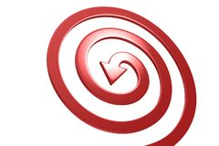 Colorful arrows on white background. Spiral shape Stock Image