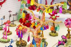 Colorful art earrings Stock Images