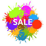 Colorful Art splashes. Sale Colorful Art splashes banner for advertising and marketing Royalty Free Stock Photography