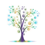 Colorful art tree Royalty Free Stock Image