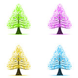 Colorful art trees Royalty Free Stock Photo