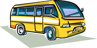 Medium Sized Bus. A colorful and artful representation of a medium sized bus Stock Image